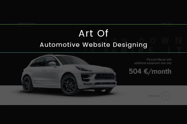 Art Of Automotive Website Designing